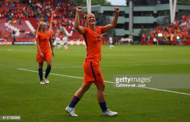 Mandy Van Den Berg of Netherlands Women celebrates during the UEFA Women's Euro 2017 Group A match between Netherlands and Norway at Stadion...