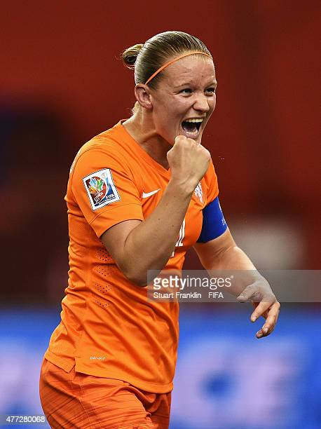 Mandy Van den Berg of The Netherlands celebrates during the FIFA Women's World Cup Group A match between Netherlands and Canada at Olympic Stadium on...