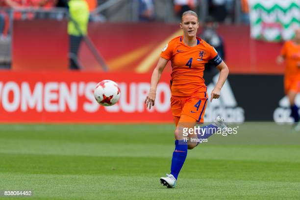 Mandy van den Berg of the Netherlands controls the ball during their Group A match between Netherlands and Norway during the UEFA Women's Euro 2017...