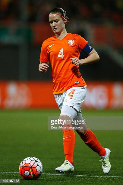 Mandy van den Berg of the Netherlands in action during the International Friendly match between Netherlands and Japan held at Kras Stadion on...