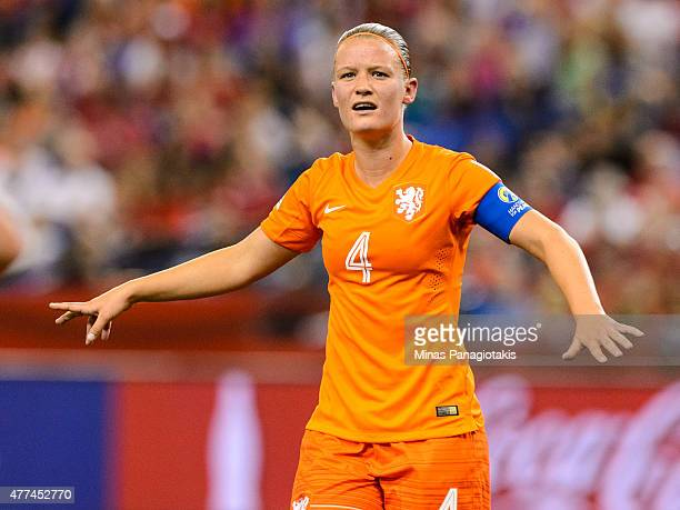 Mandy Van Den Berg of the Netherlands looks on during the 2015 FIFA Women's World Cup Group A match against Canada at Olympic Stadium on June 15 2015...