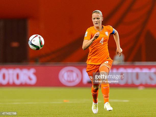 Mandy Van Den Berg of the Netherlands runs for the ball during the 2015 FIFA Women's World Cup Group A match against Canada at Olympic Stadium on...