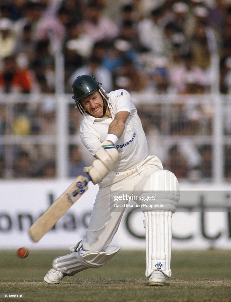 Mandy Yachad batting for South Africa during the 2nd One Day International match between India and South Africa at the Captain Roop Singh Stadium in Gwalior, India, 12th November 1991. India won by 38 runs.