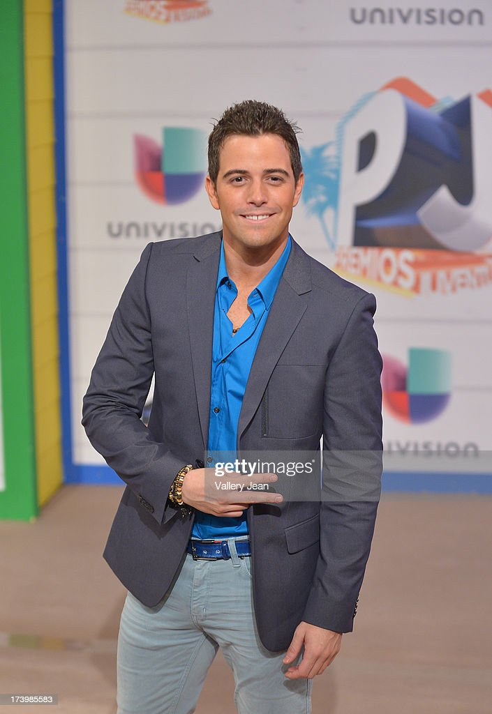 Mane de la Parra arrives at Premios Juventud 2013 at Bank United Center on July 18, 2013 in Miami, Florida.