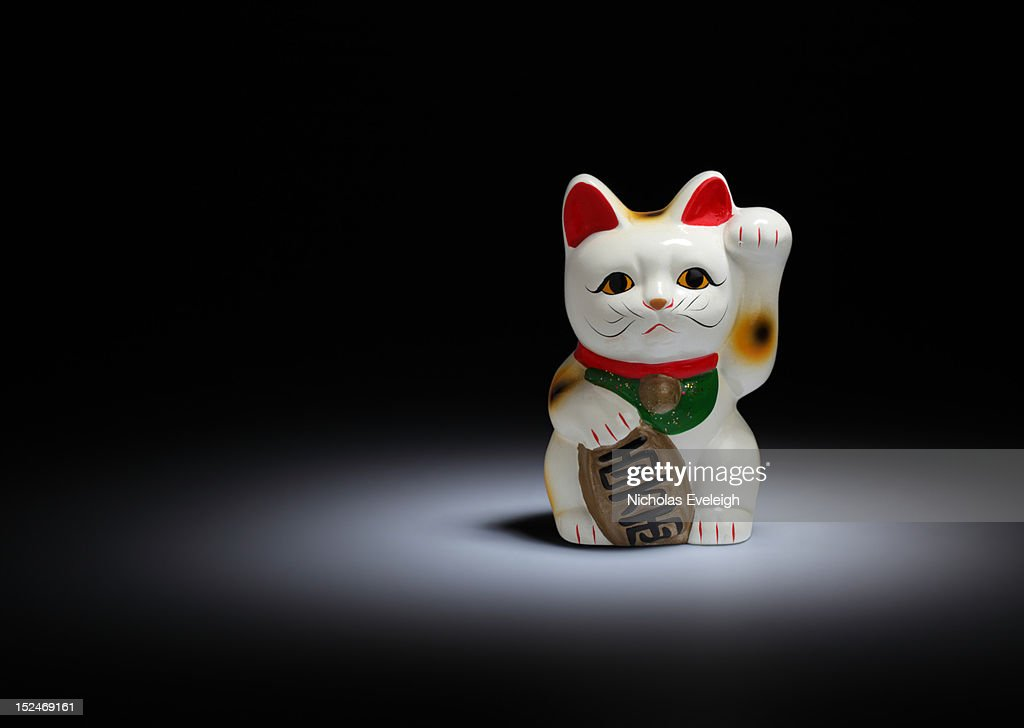 Maneki-neko cat : Stock Photo