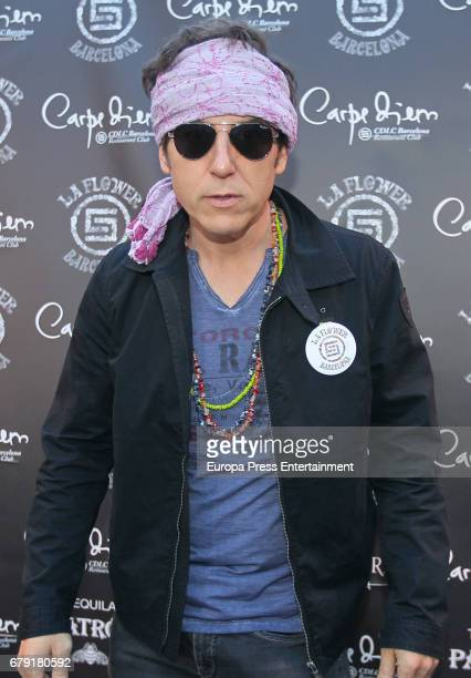 Manel Fuentes attends a photocall for the 'Flower Power' party held at the Carpe Diem nightclub on May 4 2017 in Barcelona Spain