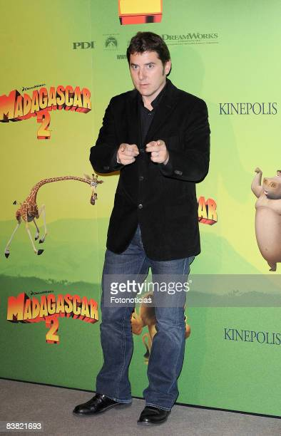 Manel Fuentes attends 'Madagascar 2' Madrid premiere at Kinepolis Cinema on November 25 2008 in Madrid Spain