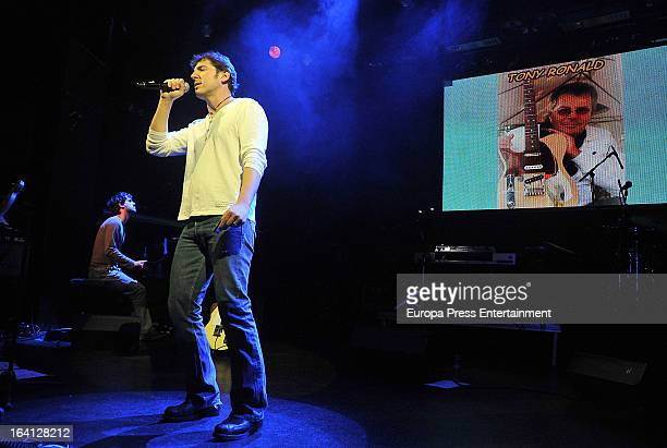 Manel Fuentes attends the homage to Dutch singer Tony Ronald at Luz de Gas on March 19 2013 in Barcelona Spain
