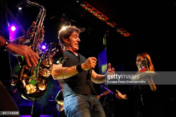 Manel Fuentes performs with his music band 'Spring's Team' the day of his 46th birthday on January 14 2017 in Barcelona Spain