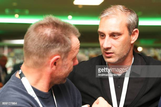 Manfred Binz and Marco Reich at the club of former national players meeting prior to / after the FIFA 2018 World Cup Qualifier between Germany and...