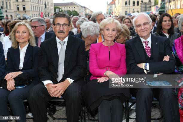 Manfred Bischoff and his wife Wiltrud Bischoff Edmund Stoiber and his wife Karin Stoiber at the MercedesBenz reception at 'Klassik am Odeonsplatz' on...