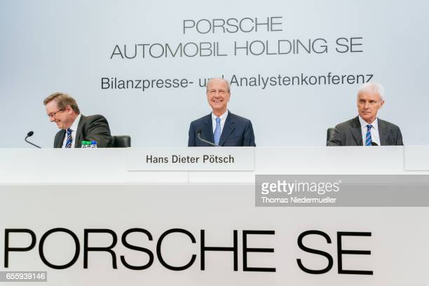 Manfred Doess member of the board legal affairs and compliance Hans Dieter Poetsch CEO and Matthias Mueller member of the board strategy and...
