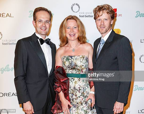 Manfred Kroneder Marion Kracht and Berthold Manns attend the Dreamball 2014 at the Ritz Carlton on September 11 2014 in Berlin Germany