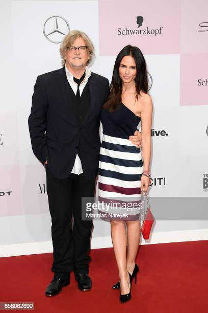 Manfred Krug and Claudia attend the Tribute To Bambi at Station on October 5 2017 in Berlin Germany