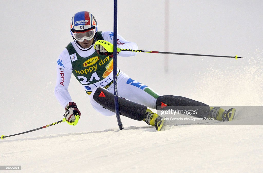 Manfred Moelgg of Italy competes during the Audi FIS Alpine Ski World Cup Men's Slalom on November 11, 2012 in Levi, Finland.