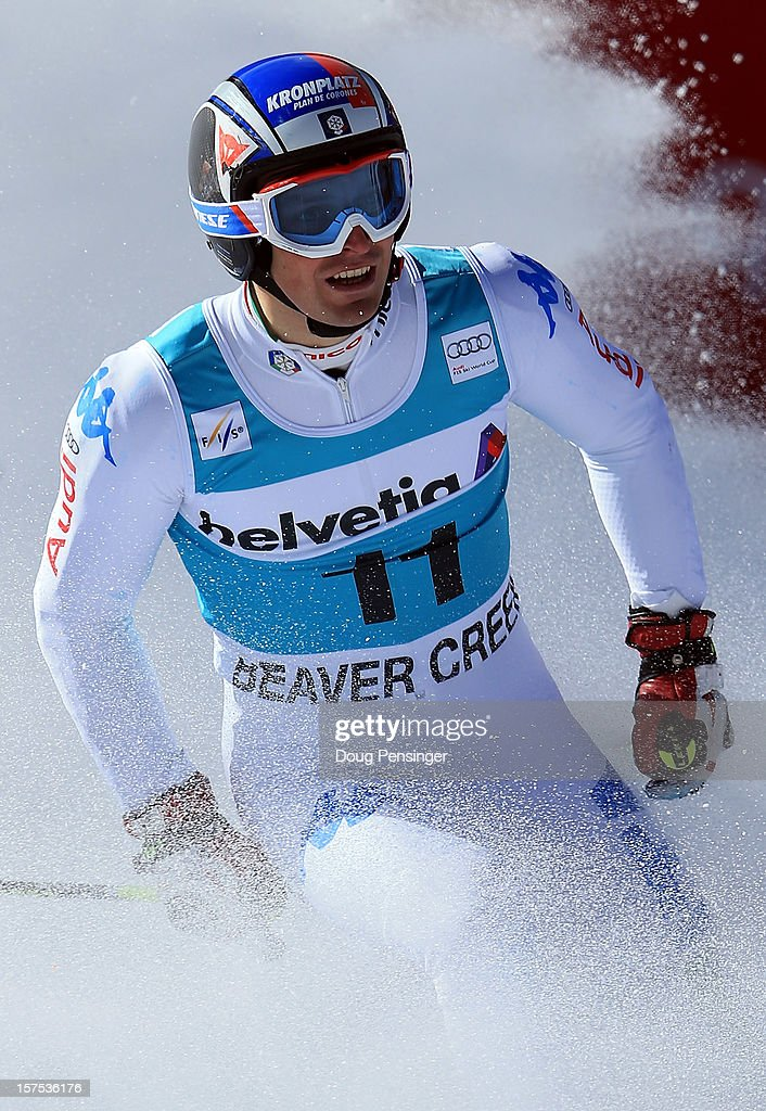 Manfred Moelgg of Italy looks on after finishing fourth in the men's Giant Slalom at the Audi FIS World Cup on December 2, 2012 in Beaver Creek, Colorado.