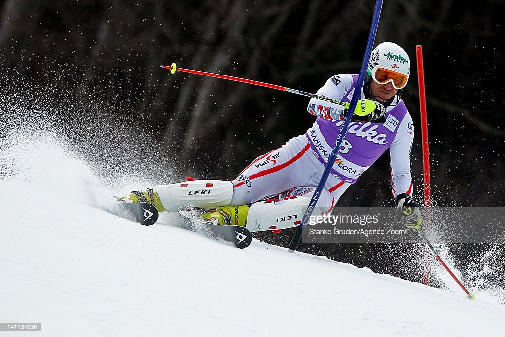 <a gi-track='captionPersonalityLinkClicked' href=/galleries/search?phrase=Manfred+Pranger&family=editorial&specificpeople=2080156 ng-click='$event.stopPropagation()'>Manfred Pranger</a> of Austria competes during the Audi FIS Alpine Ski World Cup Men's Slalom on March 11, 2012 in Kranjska Gora, Slovenia.
