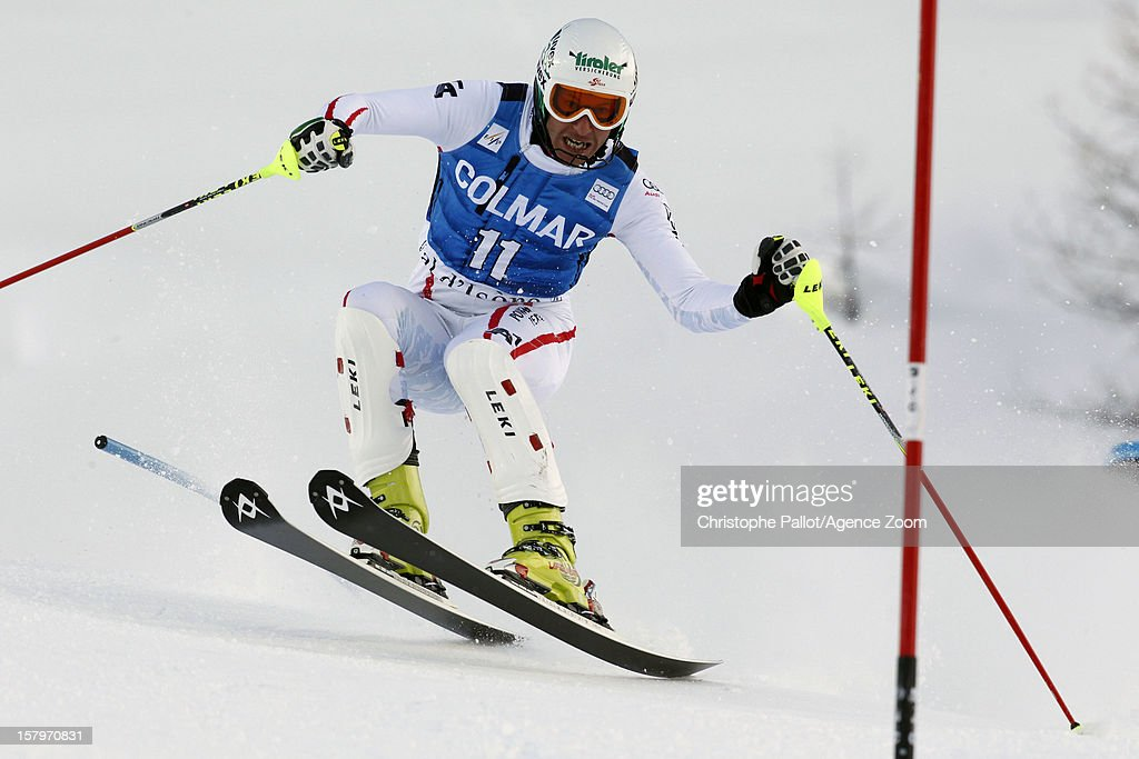 <a gi-track='captionPersonalityLinkClicked' href=/galleries/search?phrase=Manfred+Pranger&family=editorial&specificpeople=2080156 ng-click='$event.stopPropagation()'>Manfred Pranger</a> of Austria competes during the Audi FIS Alpine Ski World Cup Men's Slalom December 08, 2012 in Val d'Isere, France.
