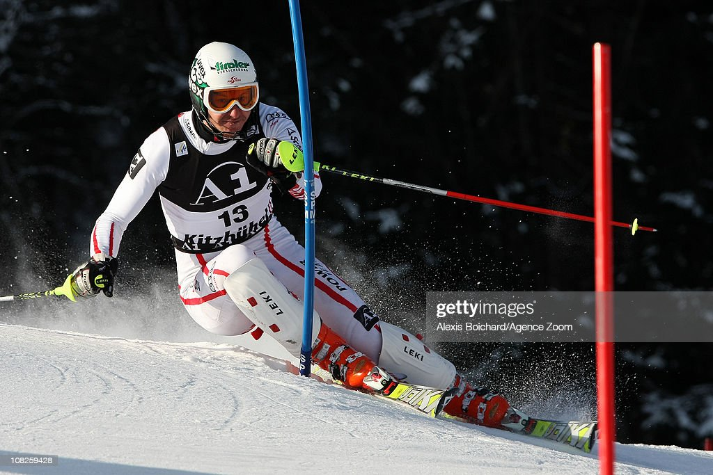 <a gi-track='captionPersonalityLinkClicked' href=/galleries/search?phrase=Manfred+Pranger&family=editorial&specificpeople=2080156 ng-click='$event.stopPropagation()'>Manfred Pranger</a> of Austria during the first run of the Audi FIS Alpine Ski World Cup Men's Slalom on January 23, 2011 in Kitzbuehel, Austria.