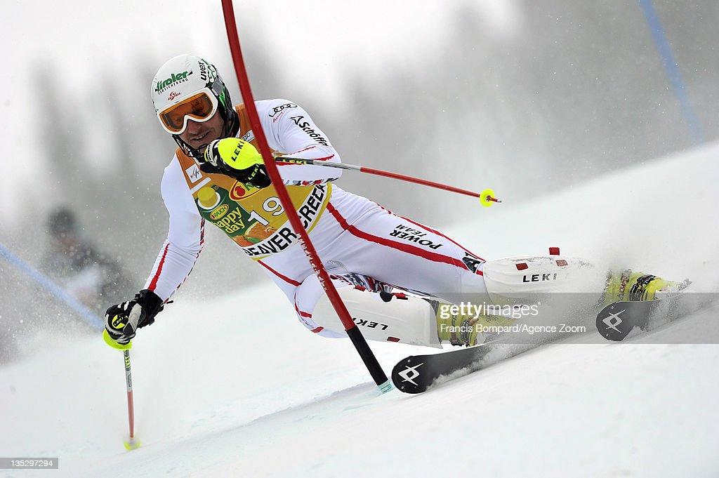 <a gi-track='captionPersonalityLinkClicked' href=/galleries/search?phrase=Manfred+Pranger&family=editorial&specificpeople=2080156 ng-click='$event.stopPropagation()'>Manfred Pranger</a> of Austria skis during the Audi FIS Alpine Ski World Cup Men's Slalom on December 8, 2011 in Beaver Creek, Colorado.