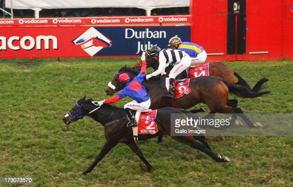 S'manga Khumalo on Heavy Metal wins from Run For It Do You Remember and No Worries the President's Champions Challenge the main race during the 2013...