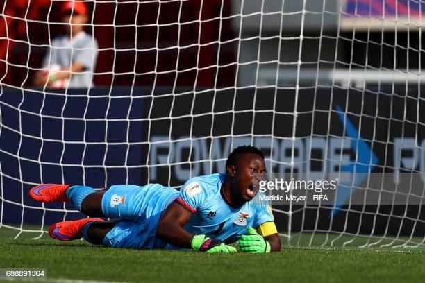 Mangani Banda of Zambia reacts after Jostin Daly of Costa Rica scored a goal during the FIFA U20 World Cup Korea Republic 2017 group C match between...