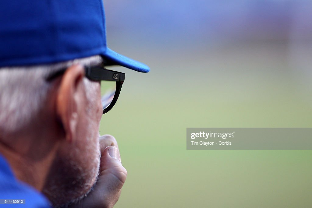 Manger <a gi-track='captionPersonalityLinkClicked' href=/galleries/search?phrase=Joe+Maddon&family=editorial&specificpeople=568433 ng-click='$event.stopPropagation()'>Joe Maddon</a> #70 of the Chicago Cubs during the Chicago Cubs Vs New York Mets regular season MLB game at Citi Field on June 30, 2016 in New York City.