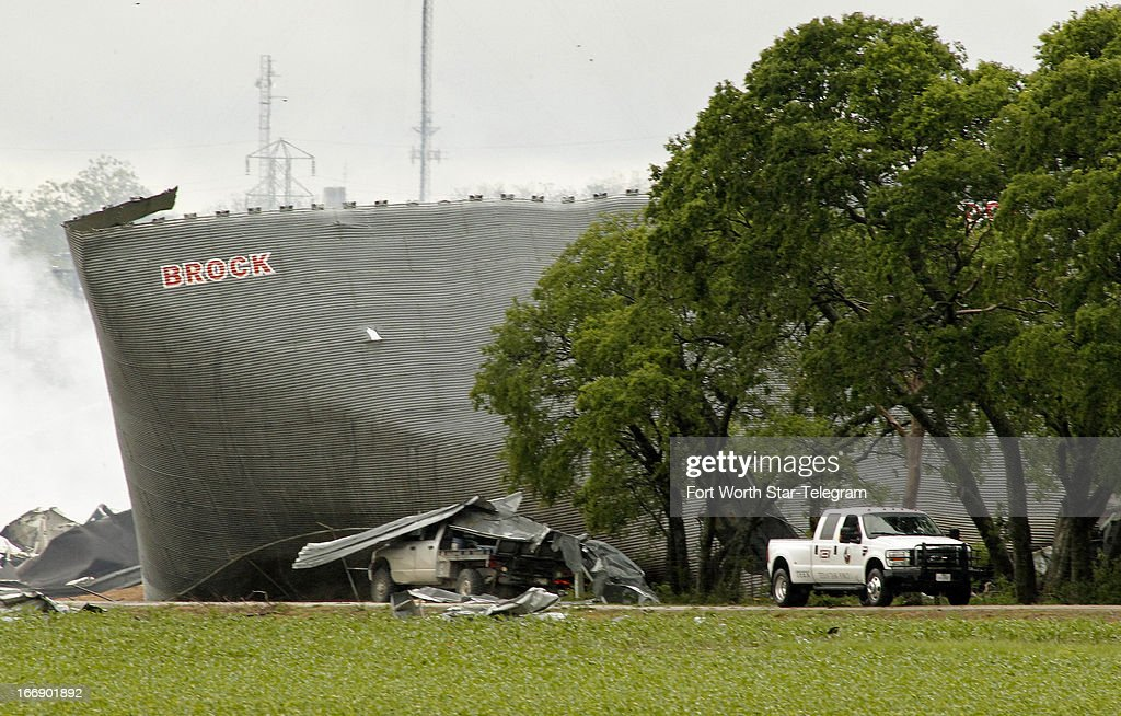 Mangled metal and debris are all that is left of a fertilizer plant in West, Texas, on Thursday, April 18, 2013. Much of the small town suffered damage when the plant caught fire causing a massive explosion Wednesday night. Authorities are still trying to determine the death and injury toll.
