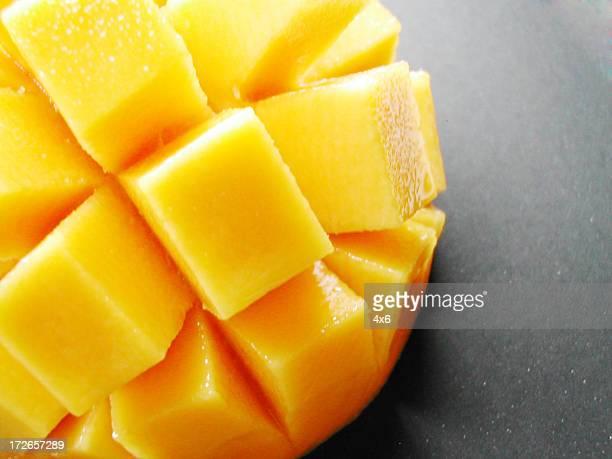 mango - close up on black background