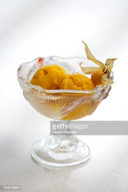 Mango Sorbet Stock Photos and Pictures   Getty Images