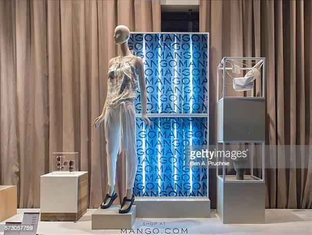 Mango London window display 2014 as Part of the World Fashion Window Displays on June 5 2014 in London United Kingdom