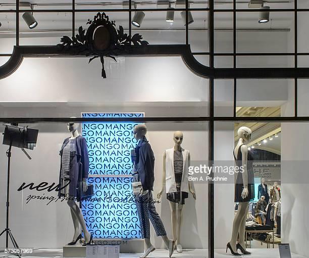 Mango London window display 2014 as Part of the World Fashion Window Displays on January 3 2014 in London United Kingdom