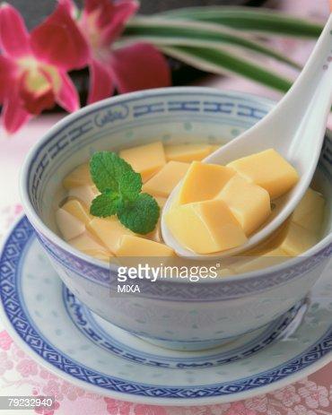 Mango Pudding : Stock Photo