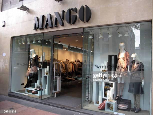 Mango shop in the Goya Street Barrio Salamanca Madrid november 2010