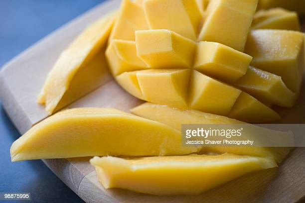 Mango sliced and peeled