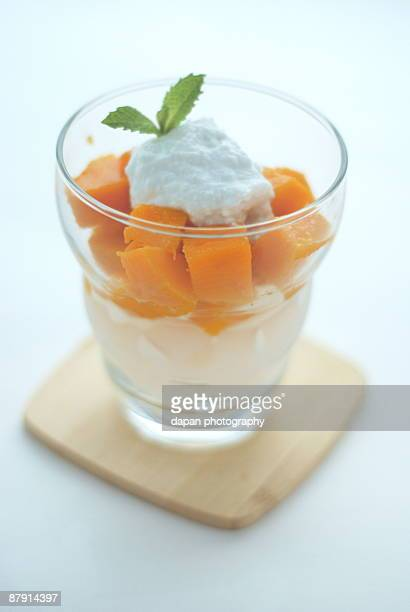 Mango with coconut gel