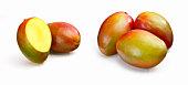 Mangoes on white