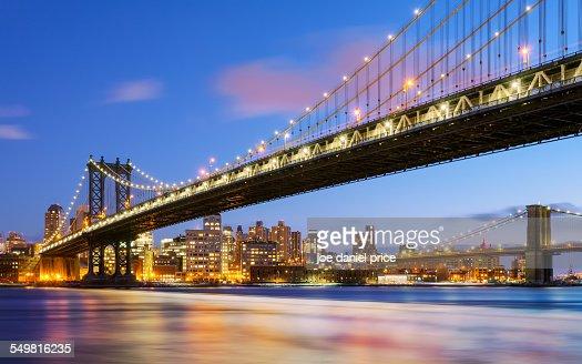 Manhattan and Brooklyn Bridge, New York City, US