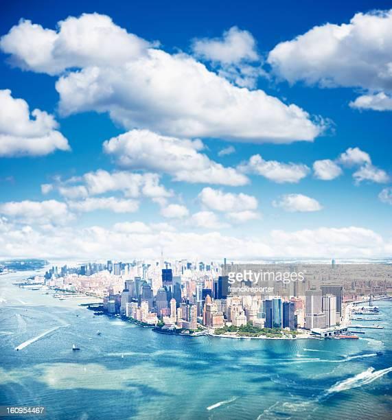 Manhattan et de Ground zero vue aérienne