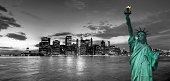 Manhattan and Statue of liberty, New York, USA