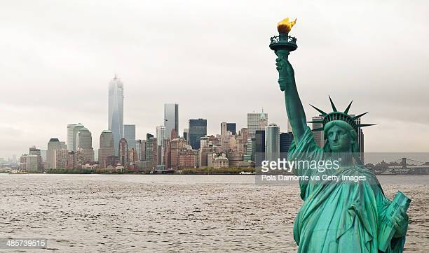 Manhattan and Statue of liberty, New York, USA