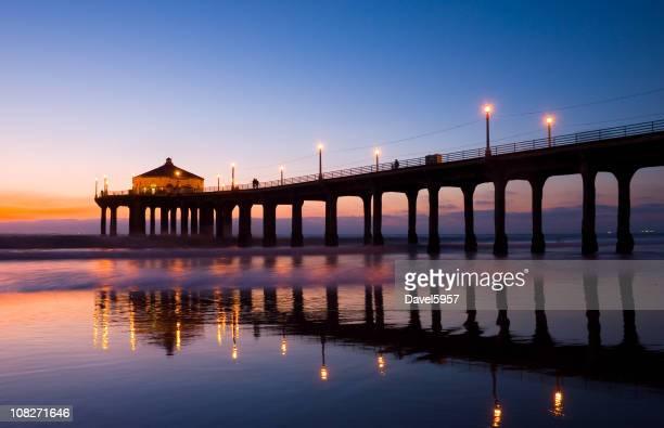 Manhattan Beach Pier at dusk