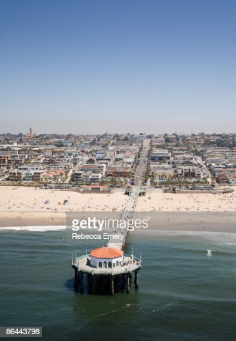 Manhattan Beach Pier, California, USA : Stock Photo