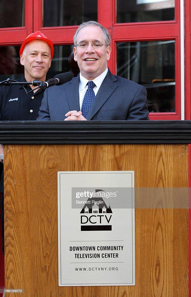 Manhattan Borough President Scott Stringer attends the DCTV Cinema Groundbreaking Ceremony at DCTV on May 7, 2013 in New York City.