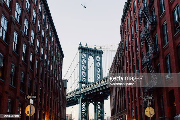 Manhattan Bridge seen from Dubmo, Brooklyn, New York City, NY, United States