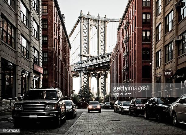 Manhattan Bridge seen from the Dumbo, Brooklyn