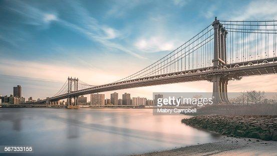 Manhattan bridge Spans East river In New York City