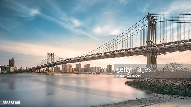 Manhattan bridge Spans East river In New York City