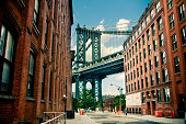 Manhattan Bridge view from Brooklyn