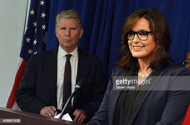 Manhattan District Attorney Cyrus R Vance Jr and actress Mariska Hargitay Founder and President of the Joyful Heart Foundation attend Joyful Heart...